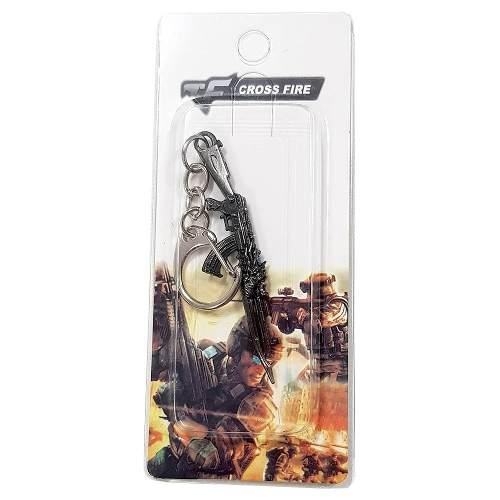 Chaveiro Arma Cross Fire Guns Metal Modelo 07