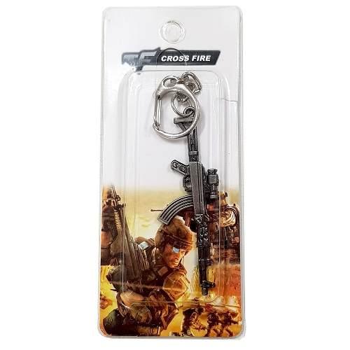 Chaveiro Arma Cross Fire Guns Metal Modelo 15