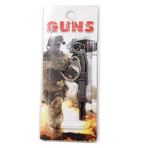 Chaveiro Arma Cross Fire Guns Metal Modelo 12