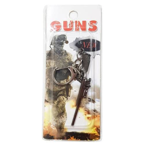 Chaveiro Arma Cross Fire Guns Metal Modelo 14