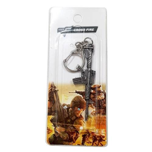 Chaveiro Arma Cross Fire Guns Metal Modelo 22