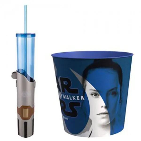 Balde De Pipoca E Copo Sabre De Luz Star Wars Azul Cinemark