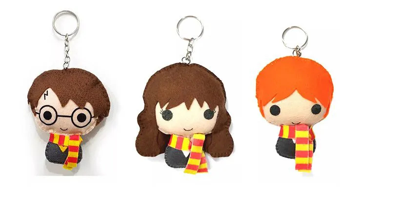 Chaveiro Harry Potter Rony Hermione