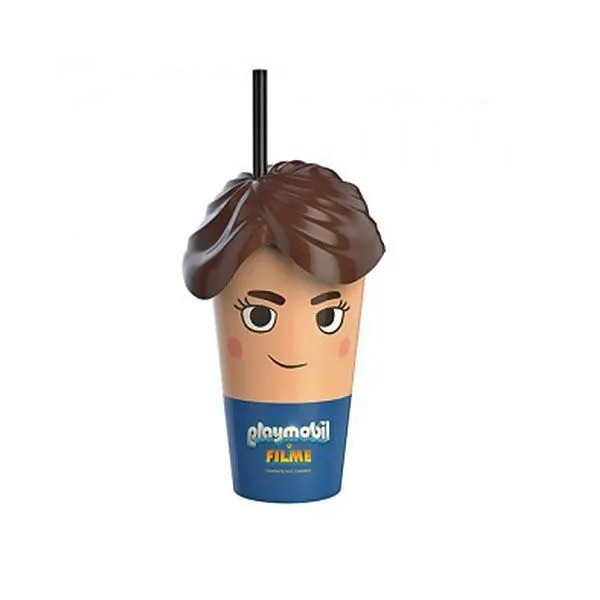 Copo Playmobil Cinemark Original 500ml Exclusivo Do Filme
