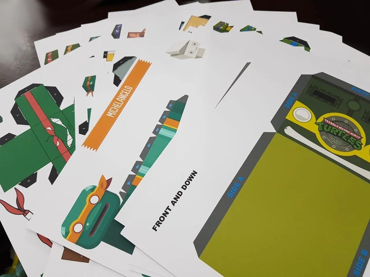 Kit Com 25 Papercraft Tmnt Tartaruga Ninja Dobradura Origami