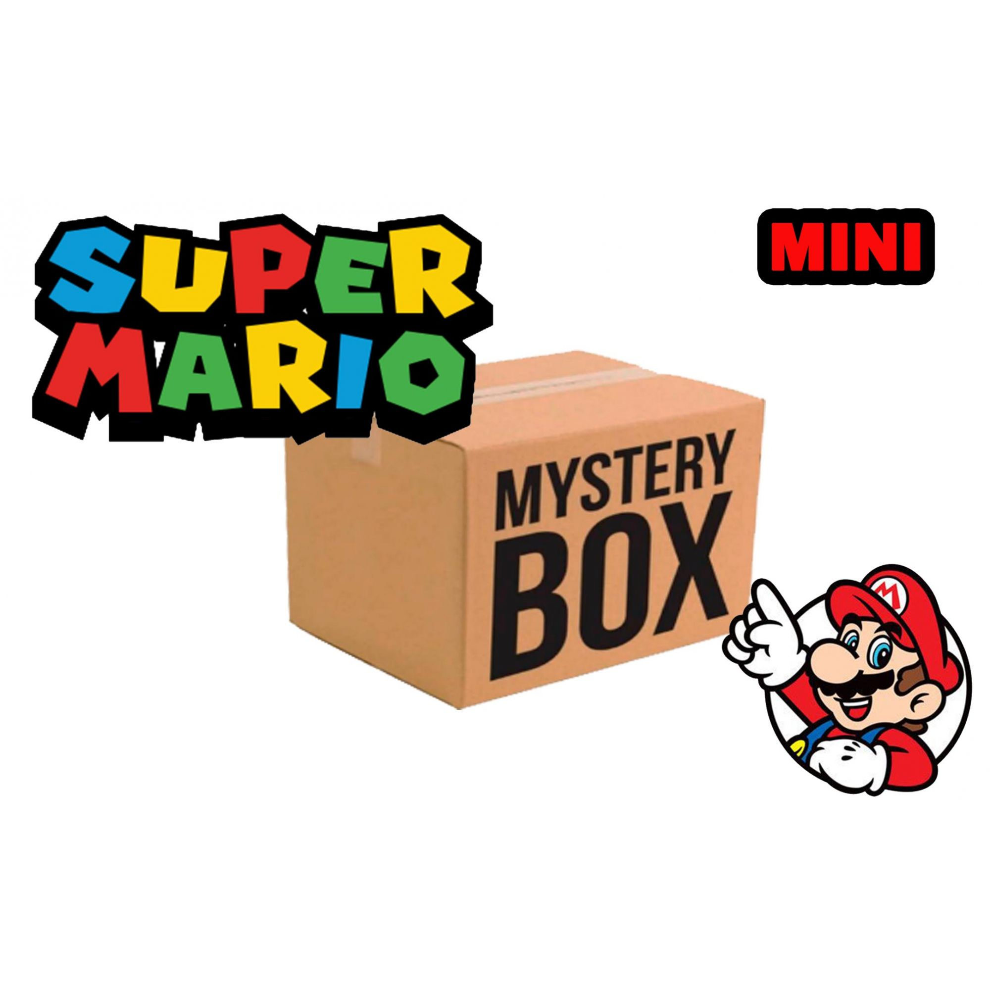 MINI CAIXA MISTERIOSA MYSTERY BOX SURPRESA SUPER MARIO BROS