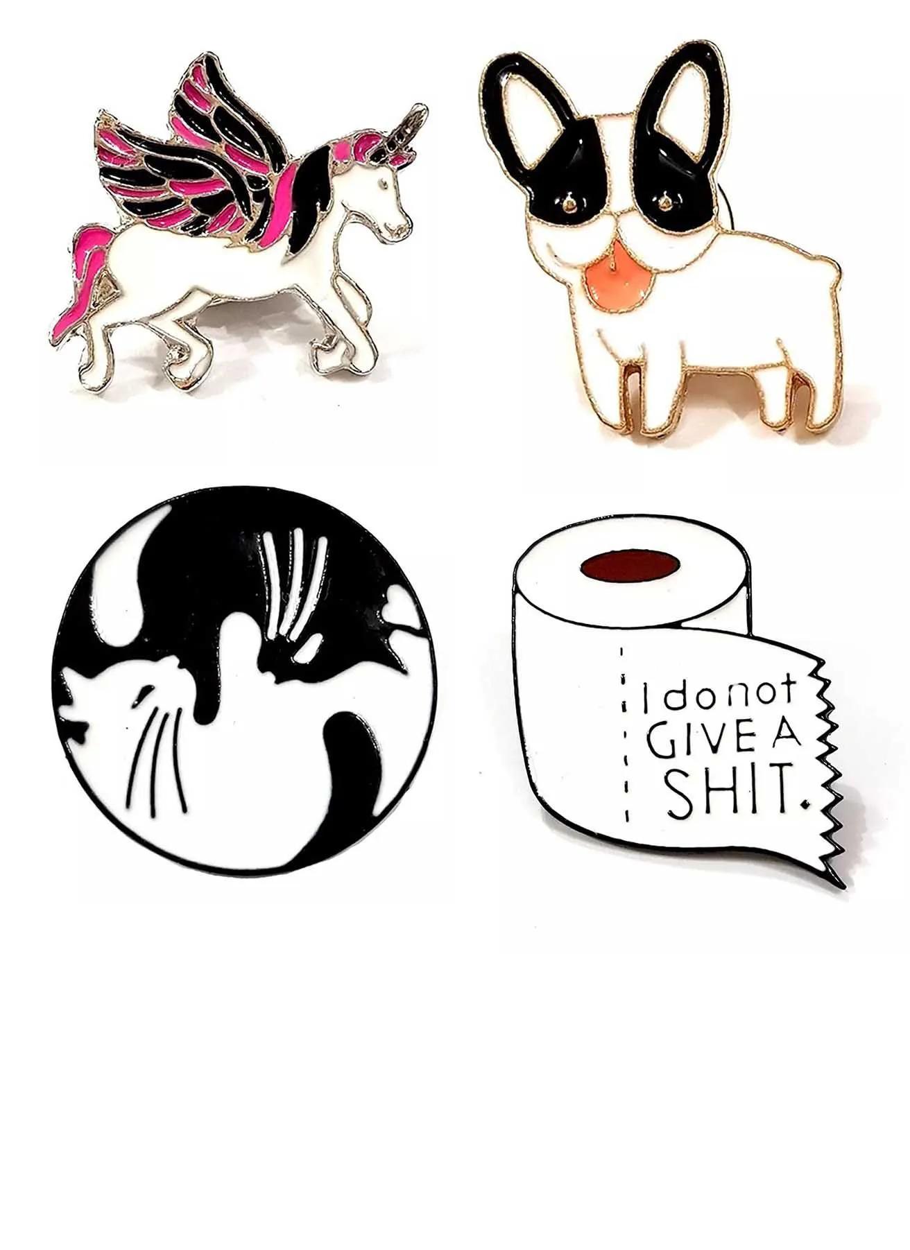 Pin Boton Broche Animal Cachorro Unicórnio Pet Animais