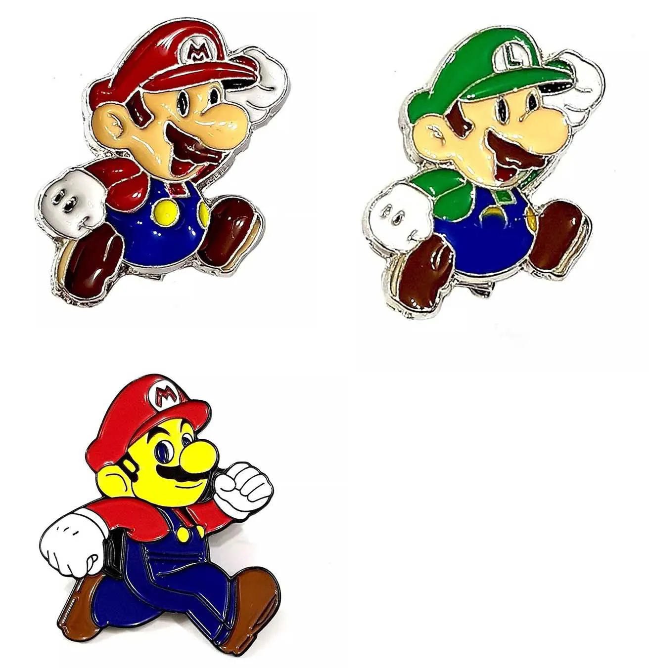 Pin Boton Broche Game Geek Super Mario Bros Luigi Nerd Pop