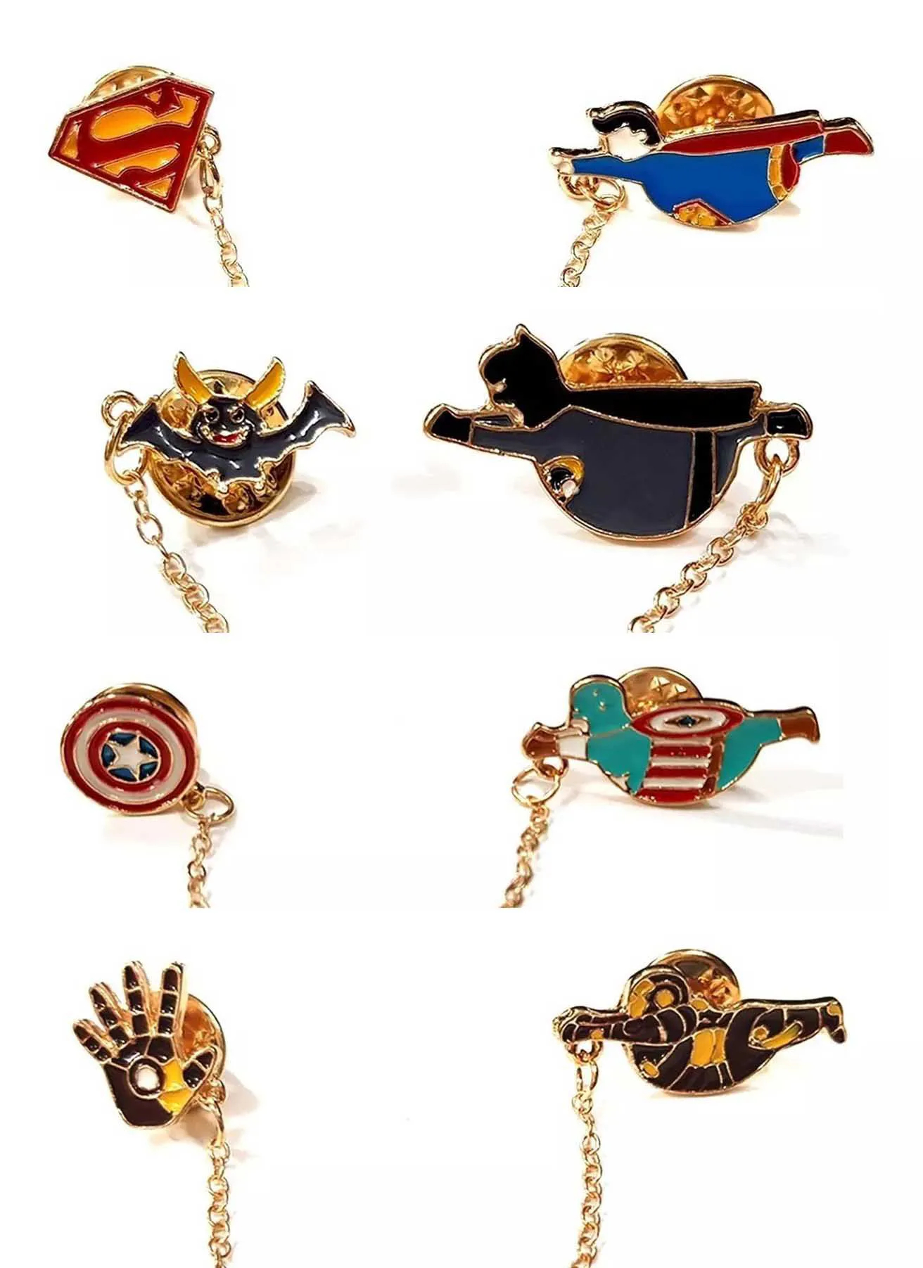 Pin Boton Broche Super Heroi Batman Superman Iron Man Marvel