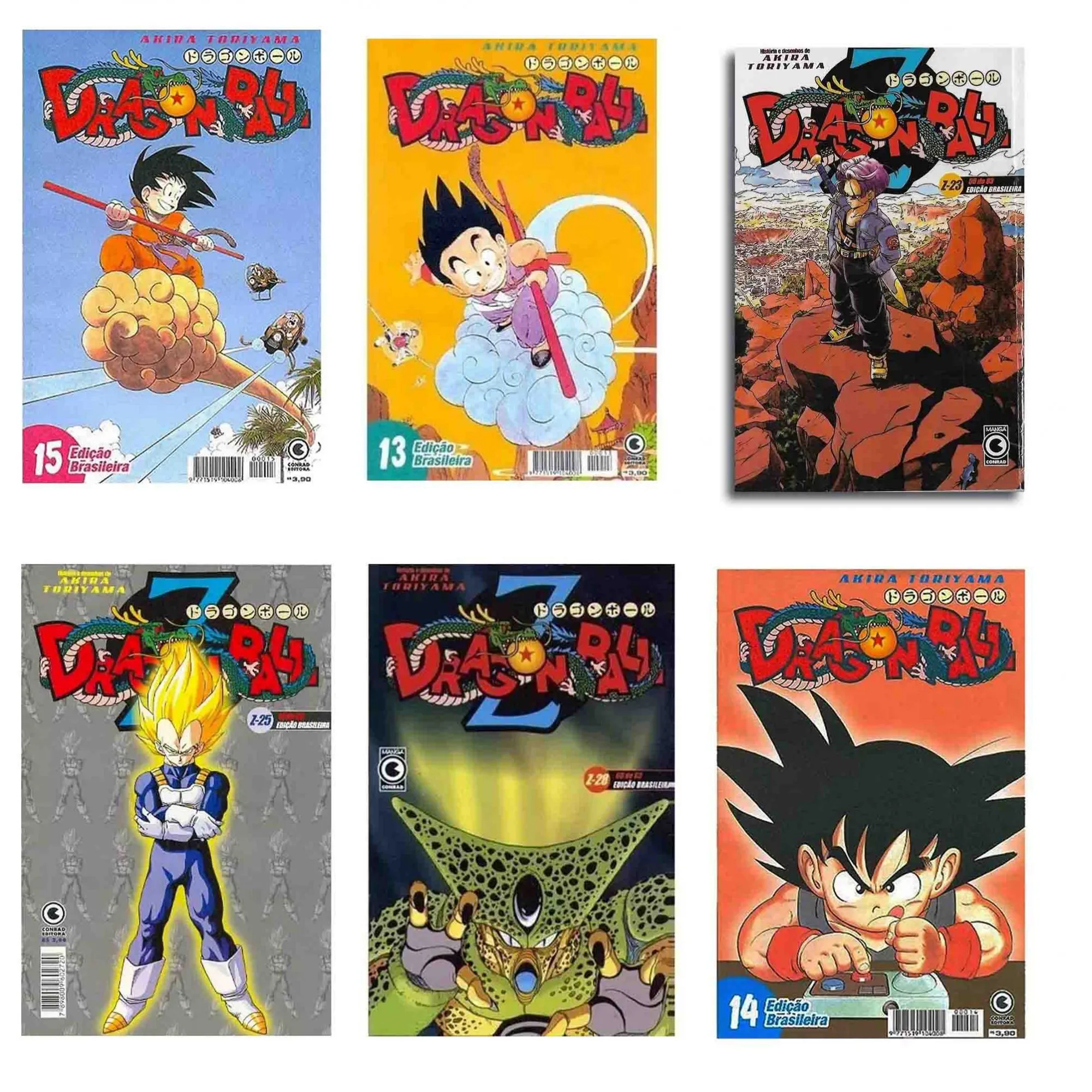 Revista Mangá Dragon Ball Conrad Akira Toriyama Lacrada Unitária