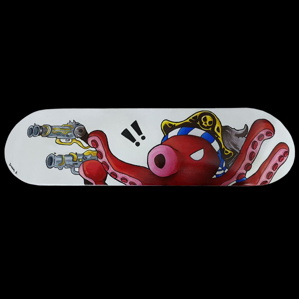 Skate Shape Assinado Octopus Pirate