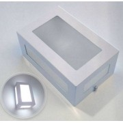 Luminária Arandela Branca 5 vidros/difusores em alumínio para 1x Lâmpada E-27 H13cm x L20cm x Prof. 9cm para área interna e externa