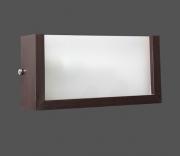 Arandela madeira com difusor acrílico para área interna 30 cm 30 x 16 x 9 cm para 1 lâmpada E27/20W Ref.55