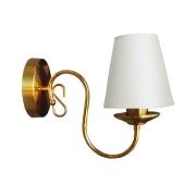 Arandela clássica Provençal dourada com cúpula em tecido