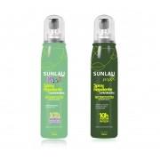 Kit Repelente infantil 100ml + Repelente de Gestante Sunlau Max Spray com Icaridina 10 horas de proteção 100ml
