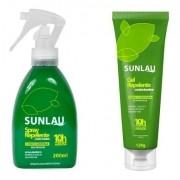 Combo Repelente em gel + Repelente para roupas e tecidos - Com icaridina 10 horas de proteção - Sunlau