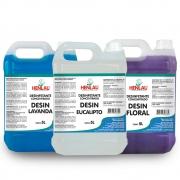Desoquem Sanitizante Desinfetante antimicrobiano com quaternário de amônio Henlau 5 litros