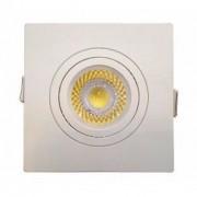Embutido face plana para lâmpada dicroica branco quadrado sistema click Save Energy