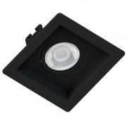 Embutido recuado preto para lâmpada dicróica sistema click Save Energy