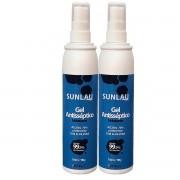 Kit 2 álcool em gel 70% higienizador para as mãos Sunlau