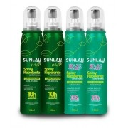 Kit Repelente 2 Sunlau Max Spray com Icaridina + 2 Repelente Kids Spray com Icaridina