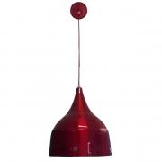 Luminária Pendente Chicomens vermelho  Sala, Bar, Cozinha