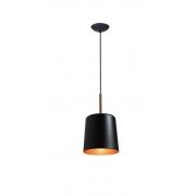 Pendente Bilboquê P Preto/cobre/cobre para 1 Lâmpada E27