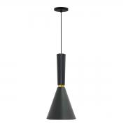 Pendente para cozinha com bancada Dual Long preto fosco com Cobre em alumínio para 1x lâmpada e-27 320mm x 200mm