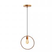 Pendente para cozinha - sala de jantar redondo cobre 300mm diâmetro para 1x lâmpada E-27