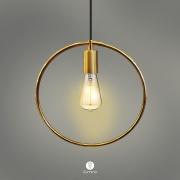 Pendente para cozinha - sala de jantar Lira redondo Dourado 300mm diâmetro para 1x lâmpada E-27