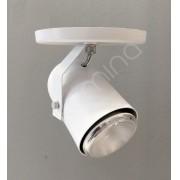 Spot de Sobrepor Direcionável branco texturizado em alumínio para 1 Lâmpada E27