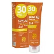Protetor Solar FPS 30 com Repelente de Insetos Icaridina 2 em 1 Sunlau
