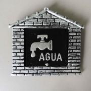 Visor Água Para Muro Colonial LeituraAluminio Prata