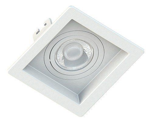 Kit embutido recuado branco com lâmpada LED dicróica 4.8W Save Energy SE-330.1032