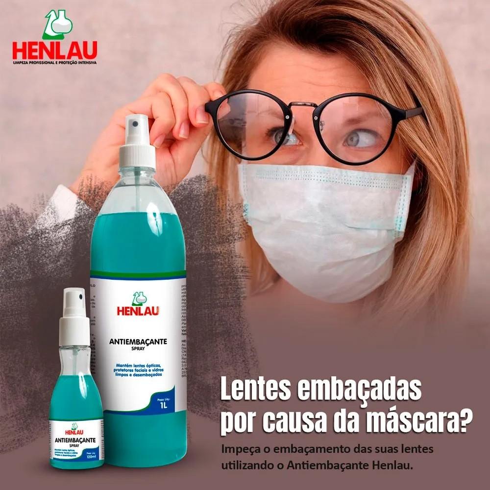Antiembaçante Henlau 1 litro para lentes de óculos, vidro, para-brisas, máscara de solda, espelho e vidro