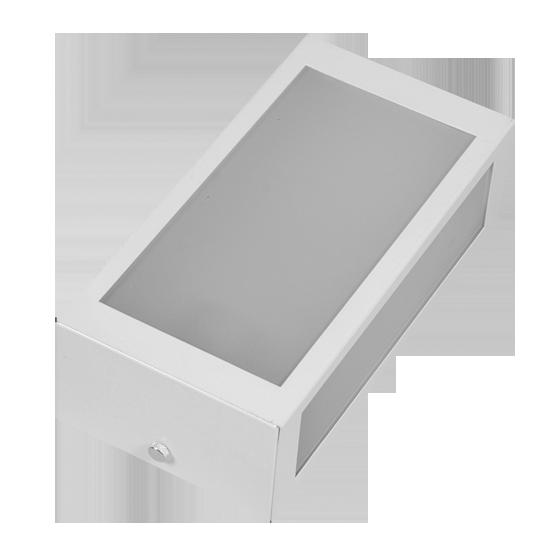 Arandela para área interna ou externa 3 vidros em alumínio Mini 02 Incolustre
