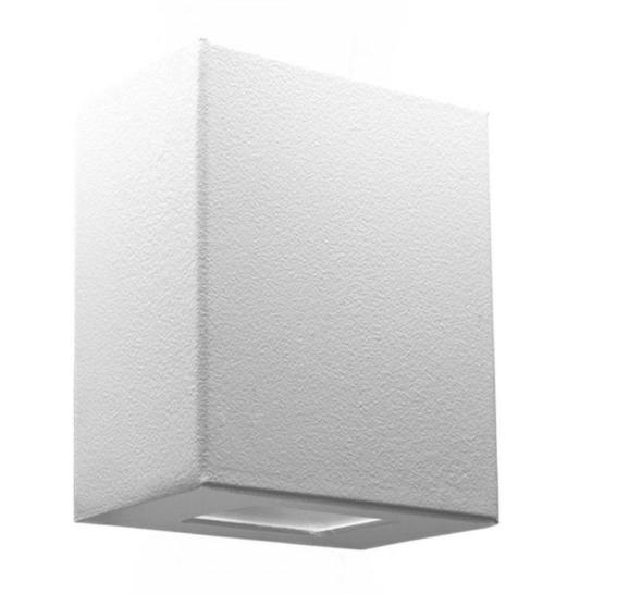 Arandela branca um facho área interna ou externa em alumínio Incolustre EFFET 07
