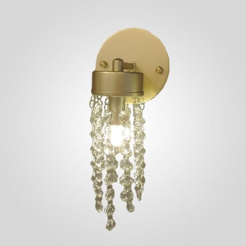 Arandela Cristal Light dourada fosca Blumenau 89631130
