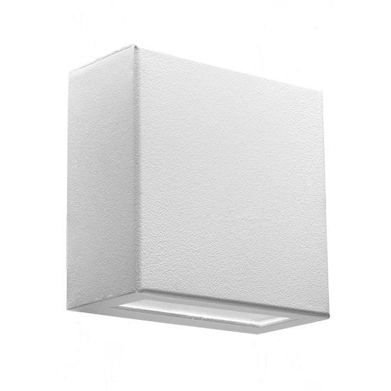 Arandela Externa / Interna dois fachos em alumínio e vidro Incolustre EFFET 05 1x lâmpada G-9 H11cm L11cm Base4,5cm