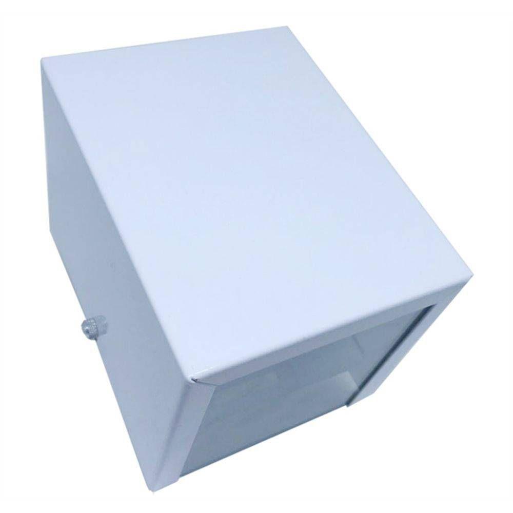 Luminária / Arandela Branca dois fachos em alumínio para 1x Lâmpada G-9 H12cm x L10cm x Prof10cm