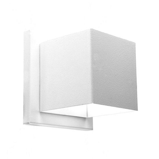 Arandela dois fachos interna ou externa em alumínio Incolustre EFFET 01 H11cm L11cm Base9cm