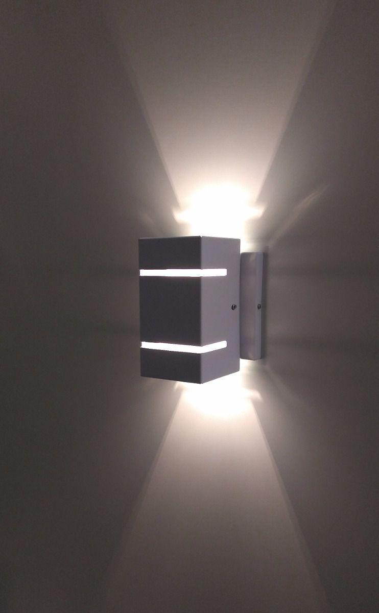 Luminária Arandela tabaco dois frisos em alumínio e vidro para área interna e externa H15cm x L8cm x Prof 10cm