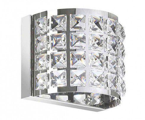 Arandela Interna Efeito Meia Lua 12cmx 14,5cm cristais K9 p/ lâmpada G9