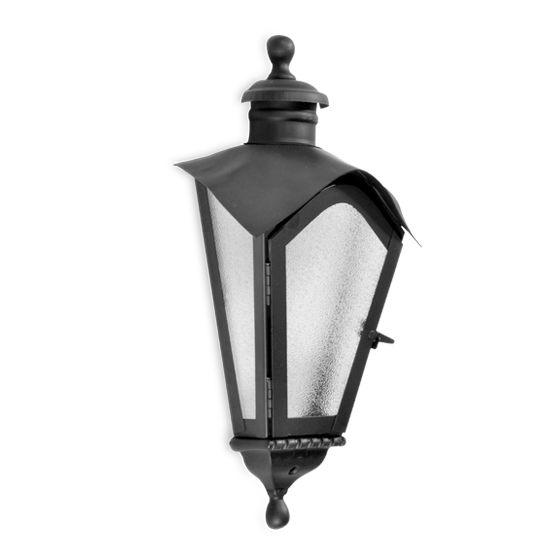 Luminária Colonial em aço e alumínio Incolustre Sinhá 1512A H52cm L28cm Cabeça15,5cm