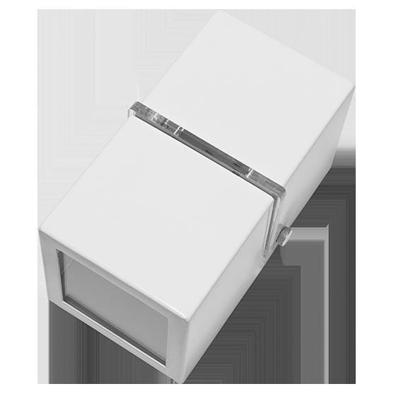 Arandela 2 fachos e 1 Friso alumínio branca para 1 Lâmpada G9 8cm x 8cm 15cm Incolustre