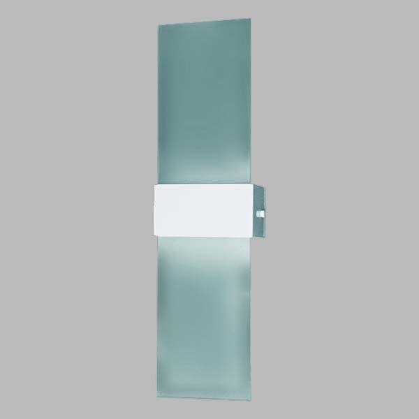 Arandela Maxi em alumínio e vidro 50cm para 2x lâmpada E27
