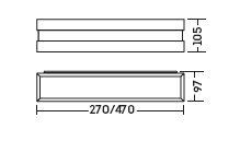 Luminária Arandela New Quadrus 2X E27 CFL 25W 470 X 97 X 105 mm 11787