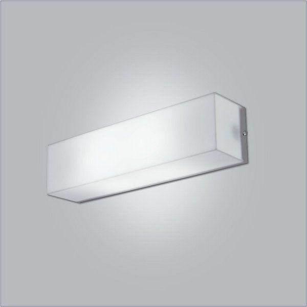 Luminária Arandela retangular 65cm em Acrílico para 1x lâmpada tubo led 10W