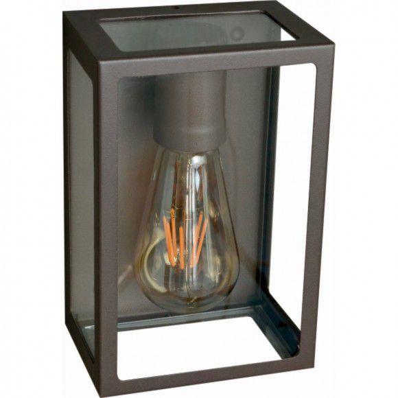 Arandela retrô marrom para área interna ou externa 20cm de altura para 1 lâmpada E27
