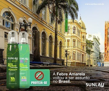 Combo 1 repelente max adulto em spray com Icaridina e 1 repelente kids em spray com icaridina 10 horas de proteção Sunlau